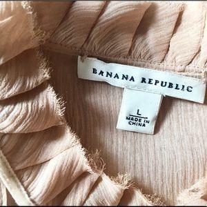 Banana Republic Tops - Women's Blush Sheer BR Blouse Sz L